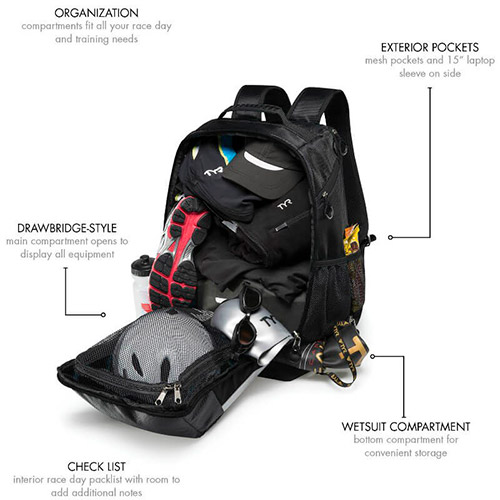 tyr apex transition backpack 40l professione ciclismo