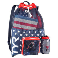 tyr big mesh mummy backpack red navy