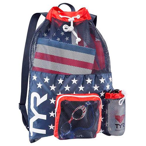 tyr big mesh mummy backpack red navy