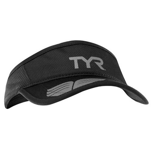 tyr running visor black grey professione ciclismo